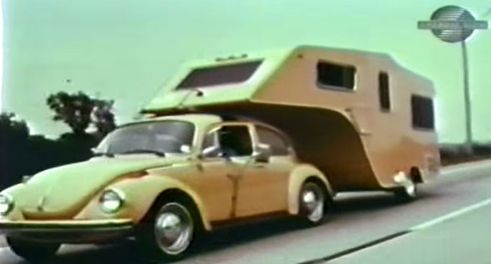 1974 VW Beetle Towing a Custom 5th Wheel Camper! | Furious.one