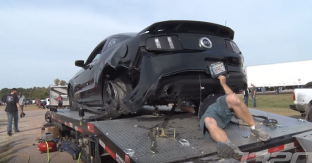 mustang tire explodes at 150mph on dyno test. Black Bedroom Furniture Sets. Home Design Ideas
